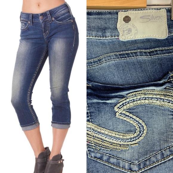93aba9581b31b Silver Jeans Jeans | Suki Mid Capri 27 Cropped Denim | Poshmark